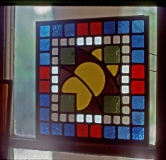 "Autonomous stained glass: ""Idee Gothique"", 12"" by 12"", location unknown."