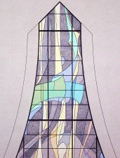 "Narthex Window: ""Paradisus"", Jeff Smith, Architectural Stained Glass, Texas"