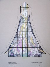 "Altar Window: ""Eucharist/Holy Spirit"", Jeff Smith, Architectural Stained Glass, Texas"