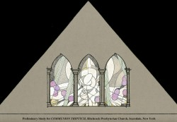 Communion Triptych, Jeff Smith, Architectural Stained Glass, Inc., Fort Davis, Texas