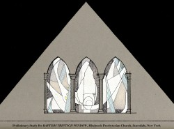 Baptism Triptych, Jeff Smith, Architectural Stained Glass, Inc., Fort Davis, Texas