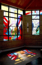 Southwest windows at midday: Jeff G. Smith, Architectural Stained Glass, Inc., Texas