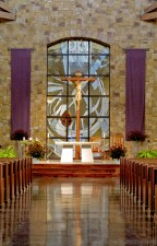 Immaculate Conception Catholic Church, Denton, Texas: Jeff G. Smith, Architectural Stained Glass, Inc.