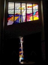 "Darker color in lower ""Meditation"" Window flows up into brighter Upper Window."