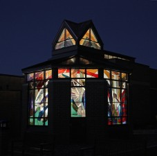 Immaculate Heart Catholic Church, Ankeny, Iowa: Jeff G. Smith, Architectural Stained Glass, Inc., Texas
