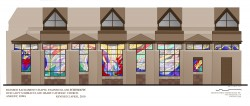 "Scale color-rendering: ""Unfolded"" projection of 8-sided St. Michael Chapel."