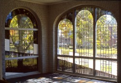 Sunroom Stained Glass Windows: Imported mouthblown glass and lenses.