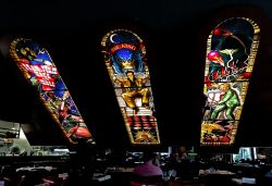 Hard Rock Cafe, Architectural Stained Glass, Elvis, Chuck Berry, Jerry Lee Lewis