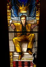 Hard Rock Cafe, Architectural Stained Glass, Elvis