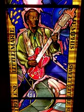 Hard Rock Cafe, Architectural Stained Glass, Chuck Berry