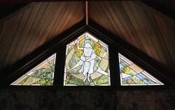 """Ascension"": Memorial Chapel Clerestory, Jeff Smith, Architectural Stained Glass, Inc., Texas"