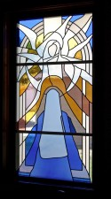 """The Annunciation""Jeff G. Smith, Architectural Stained Glass, Inc., Fort Davis, Texas"