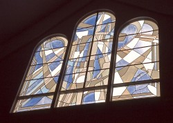 St. Matthew Catholic Church, Narthex: Jeff G. Smith, Architectural Stained Glass, Inc.
