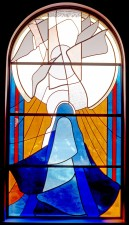 Annunciation, St. Matthew Catholic Church, Windham, NH: Architectural Stained Glass, Inc.