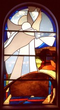 """Angel at the Empty Tomb""; Nave Window: French and German mouthblown glass."