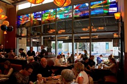 Richard Walker's Pancake House, San Diego: Architectural Stained Glass, Inc., Fort Davis, Texas