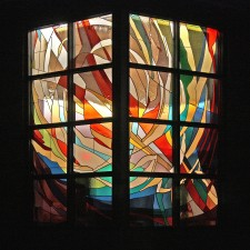 """Creation"": Jeff G.Smith, Architectural Stained Glass, Inc., Fort Davis, Texas"