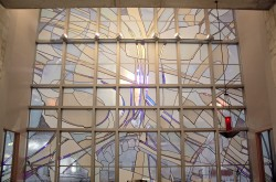 Resurrection Stained Glass Window - Reredos; Architectural Stained Glass, Inc., Texas
