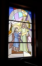 """Joseph and Young Jesus"" by Architectural Stained Glass, Inc., Texas"