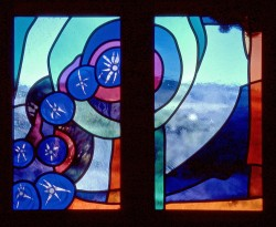 Detail: Ursa Minor, mouthblown glass, Architectural Stained Glass, Inc., Texas