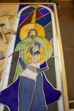 "The leading of ""Nativity"" by Jeff G. Smith, Architectural Stained Glass"