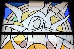 """Annunciation"": Jeff G. Smith, Architectural Stained Glass, Inc., Fort Davis, Texas"