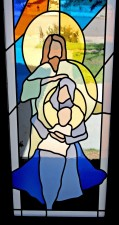 """Nativity"": Jeff G. Smith, Architectural Stained Glass, Inc., Fort Davis, Texas"
