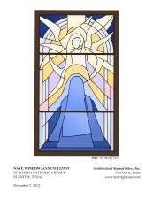 Annunciation Stained Glass Window Rendering