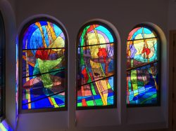 Blessed Mother Chapel Architectural Stained Glass, Inc., Jeff Smith, Texas mouthblown