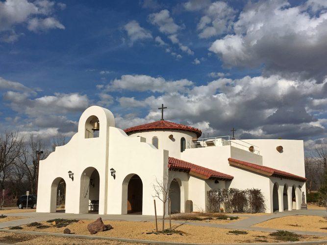 New Chapel at Holy Cross Retreat Center, Mesilla, New Mexico.