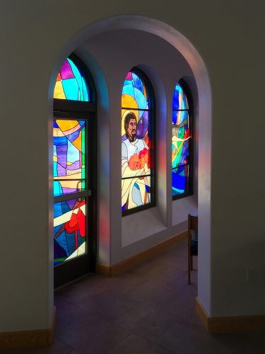 Portal into Blessed Mother Chapel.