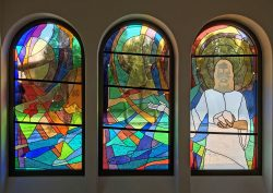 Reservation Chapel Architectural Stained Glass, Inc., Jeff Smith, Texas mouthblown