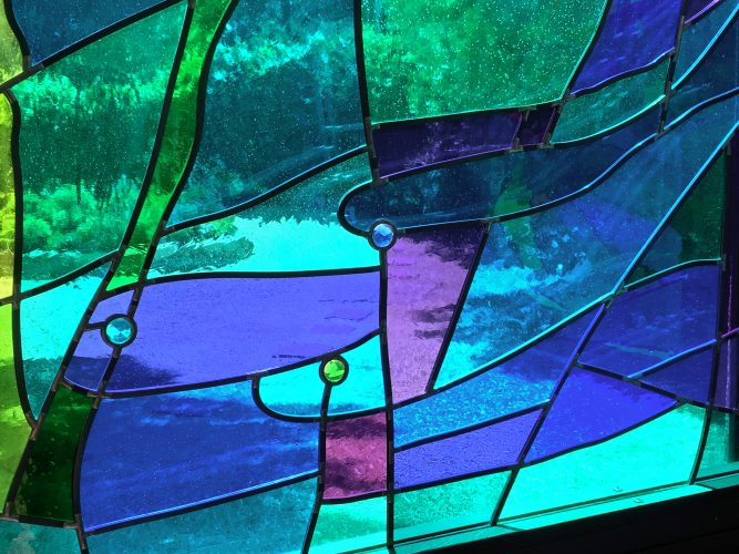 Cool water & fishes in East Reservation Chapel Windows.