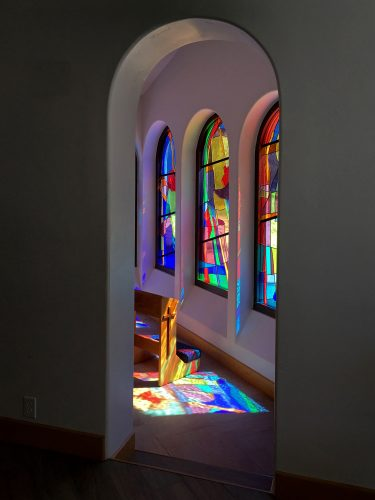 Portal from Altar to Blessed Mother Chapel.