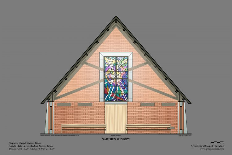 Narthex Stained Glass.
