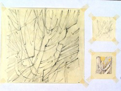 """Preliminary sketches for """"Galaxy I"""""""