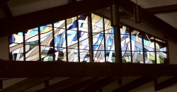 """God the Father"" Clerestory stained glass window."