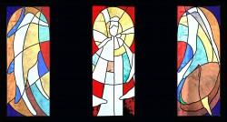 """He Has Risen!"" - Resurrection Window in Choir, Jeff Smith, Fort Davis, Texas"