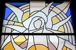 """""""The Annunciation"""" (detail) Jeff Smith, Architectural Stained Glass, Inc., Fort Davis, Texas"""