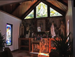 Nativity, Ascension: Jeff G. Smith, Architectural Stained Glass, Inc., Fort Davis, Texas
