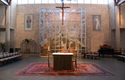 Resurrection Reredos, Contemporary Stained Glass, German mouthblown glass