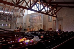 """""""Resurrection"""" Reredos in Morning Sun, Jeff Smith, Architectural Stained Glass, Inc; Texas"""