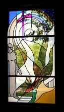 """""""History"""" stained glass window by Jeff G. Smith"""